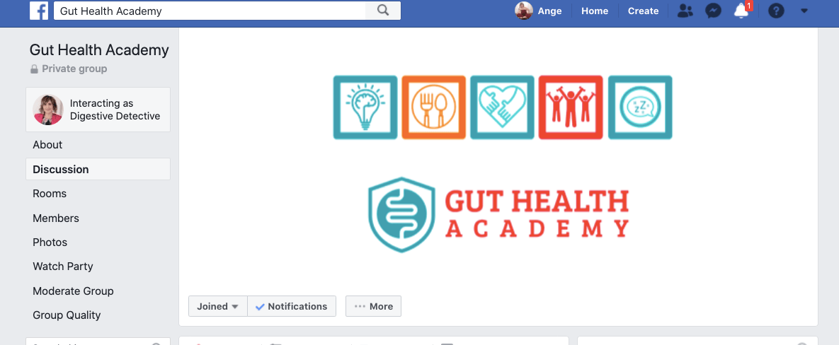 Gut Health Academy Facebook